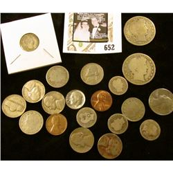 1954 S & 85 P Cents; 1897, 1901, 1905, (4) 46P, & (2) 46D U.S. Nickels; (5) Barber Dimes including a
