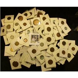 (4) BU & 1932 in Fine Canada Cents & over One-hundred various Foreign Coins, all carded.