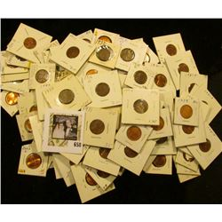 (100) Carded Lincoln Cents in a bag dated 1909-2003D.