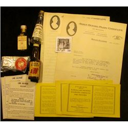 """(4) """"John Deere Plow Company"""" Letters on Letter heads dating 1917-20; several Mint condition medical"""