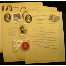 "Several Omaha, Nebraska & a Des Moines, Ia. ""John Deere Plow Co."" Letters on letter heads from 1911-"