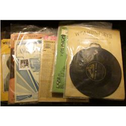 """Large Group of 78 R.P.M. Single Sided Records for the """"Victor Talking Machine"""" & numerous pieces of"""
