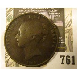 1854 Great Britain Large Penny depicting Queen Victoria.