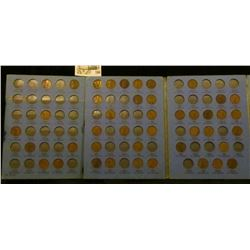 1909-40 Partial Set of U.S. Lincoln Cents in a blue Whitman folder.