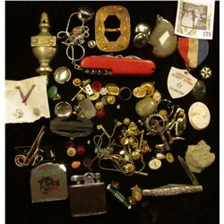 Large group of Old Jewelry, which needs sorted. Includes a military Desert Storm Daughter Medal, tap