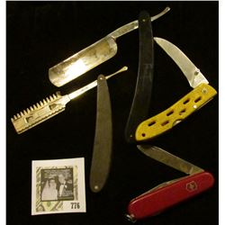 Pair of Old Straight Razors and a pair of Knives.