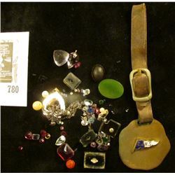 """A Watch Fob """"C.J.H.S.""""; small amount of Jewelry and Semi-precious Stones removed from jewelry."""