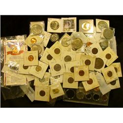 Nice Group of holdered coins including numerous Eisenhower Dollars in BU.