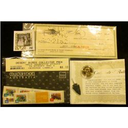 Abraham Lincoln Presidential Dollar with Certificate of Ownership & Authenticity; Flint Arrowhead on