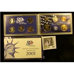 2001 S U.S. Proof set in original box of issue.