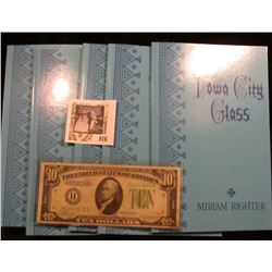 "(5) Mint Condition Paper Backs 1981 Edition of ""Iowa City Glass"" by Miriam Righter, all personally a"