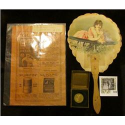 "Advertisement ""Glatton"" For Celluloid Collars and Cuffs; 19th Century Advertising fan ""A Sundquist D"
