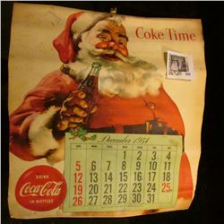 Large format 1955 Coca-Cola Calendar Girl Calendar. Some penciling on dates.