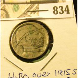 "1915 S ""Hobo"" over VF Buffalo Nickel."