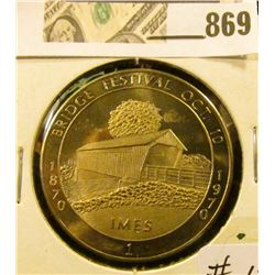 1970 Winterset #1 Bridge Festival Commemorative Coin