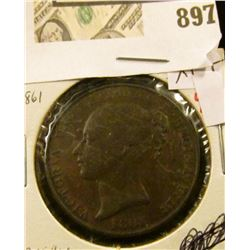 1861  Jersey 1/13 shilling XF+  NGC price guide is $85 in XF