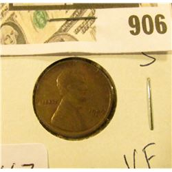 1909 S Lincoln Cent VF - Key Date - 1rst in a good group!