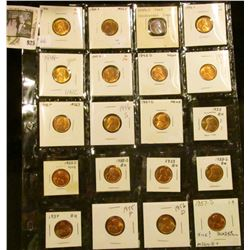 Sheet of 20 Gem Lincoln Wheaties  from 1940 to 1957-D C-35(2 blocks), C-36, C-51, C-51a, C-55, C-56,