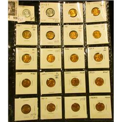 Another Sheet of 20 High Grade Wheats  1935 - 1958 D