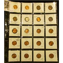 Sheet of High Grade Lincoln Memorials & a few error coins