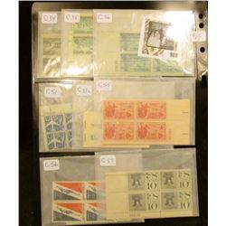 Grouping of Air Mail plate block U.S. stamps - Scott #'s C-34, C-60a, C-62, C-70  dates range from 1