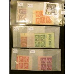 Another group of plate blocks - Scott #'s 932, 1030, 1032, 1031, 1033, 1036, 1038, 1035, 1039, 1040,