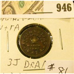 1847 Apothecary Weight - Registered Mar 16, 1847  1 Dram