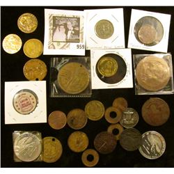 Mixed bag of misc tokens & medals - 25 in all