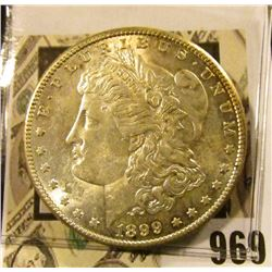 1899 S U.S. Silver Morgan Dollar, Brilliant Unc.