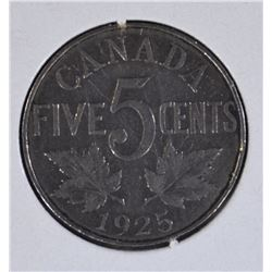1925 CANADA FIVE CENTS