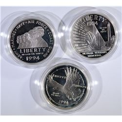 1994-P VETERANS 3pc COMMEM PROOF SILVER
