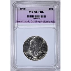 1948 FRANKLIN HALF DOLLAR NGP GEM