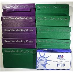 RUN OF 1990'S PROOF SETS
