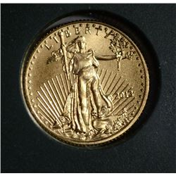 2013 1/10th oz AMERICAN GOLD EAGLE, GEM BU