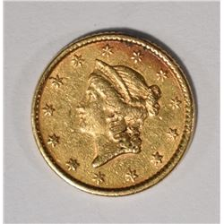 1853 GOLD DOLLAR, XF