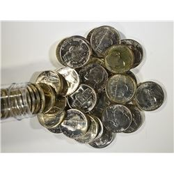BU ROLL OF 1942-P SILVER JEFFERSON WAR NICKELS,