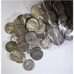 150-CIRC MIXED DATE FULL DATE BUFFALO NICKELS