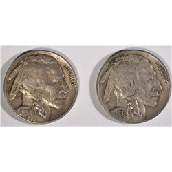 2 - 1931 S BUFFALO NICKELS AU