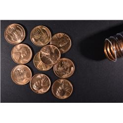 BU ROLL OF 1940-S LINCOLN CENTS