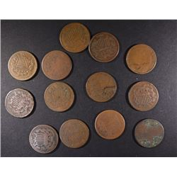 13-2-CENT PIECES AS PICTURED