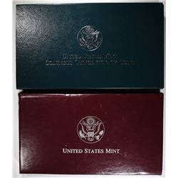 1998-S KENNEDY & 1992-P & S COLUMBUS PROOF SETS
