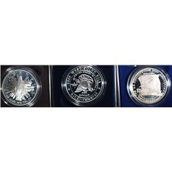 (3) Proof Commemoratives Silver Dollars