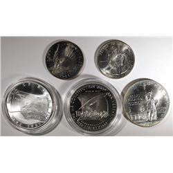 5 Commemorative Coins: