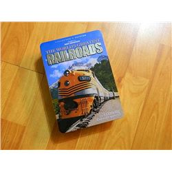 DVD COLLECTION - THE WORLD'S GREATEST RAIL ROADS 5 DISK SET WITH BOOK AND METAL BOX