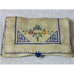 FROM ESTATE - NAZI NEEDLE BOOK / HOUSEWIFE /HUSSIF - really good condition - two swastikas and flowe