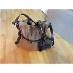 FROM ESTATE - PURSE - BROWN LEATHER BAG DESIGN