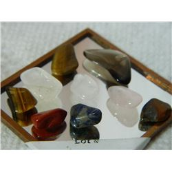 GEMSTONES - ASSORTED FREE FORM POLISHED- ~33CT - 9PC TTL