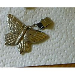 LARGE METAL BUG - BUTTERFLY - WITH CLIP