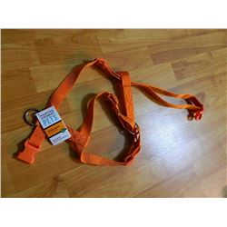 "NEW DOG HARNESS - 22-38"" GIRTH - MARTHA STEWART - ORANGE"