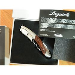 NEW LAQUIOLE CORKSCREW BY TRUDEAU - EXOTIC PAKKA WOOD - JUST IN TIME FOR CHRISTMAS AND NEW YEAR